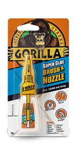 Gorilla Super Lijm Borstel & Nozzle 10g