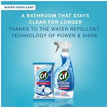 cif bathroom power shine spray wipes