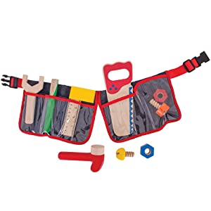 Bigjigs Toys Tool Belt (Red)