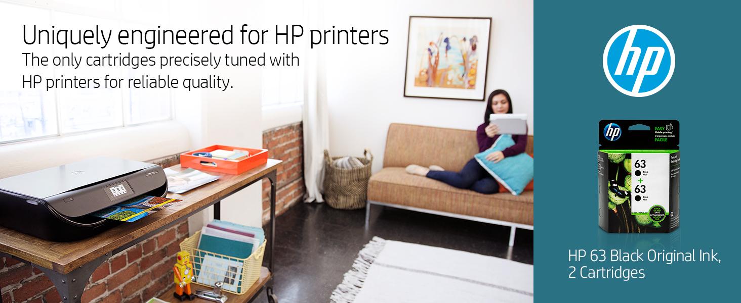 63 color tri-color black xl combo pack hp ink cartridges cartridge printer Hewlett Packard