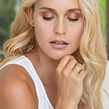 Model, natürlich, Minimalismus, blond