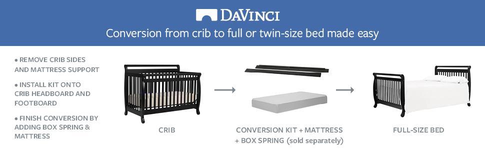 Amazon Com Davinci Twin Full Size Bed Conversion Kit