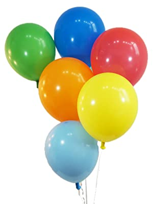 amazon com bag balloons 72 ct assorted color latex balloons