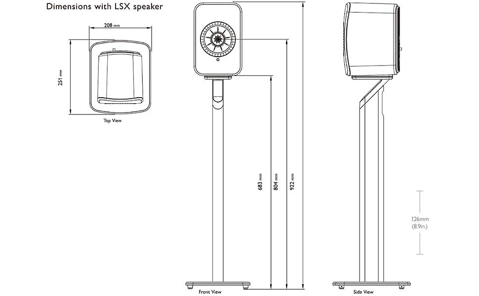 KEF S1 speaker stand dimensions