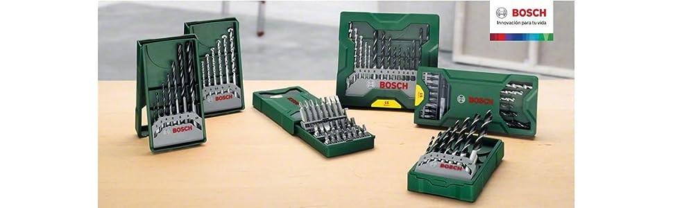 Bosch; accesorios; brocas; taladrar; taladro; bricolaje; sets; maletines; equipado