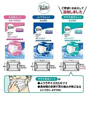 [Amazonブランド]Presto! (PM2.5対応)快適プレミアムマスク 小さめサイズ 200枚(50枚×4パック)