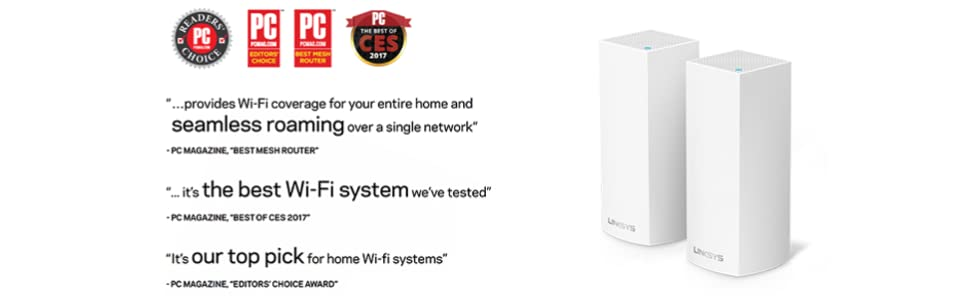 Linksys Velop Awards and Reviews