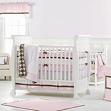 Bacati Metro Pink/Chocolate Bedding