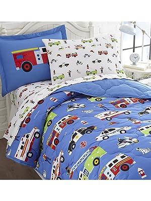 wildkin heroes 5 piece twin bed in a bag