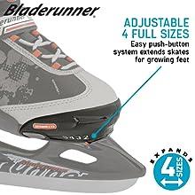 Adjustable kids ice skates