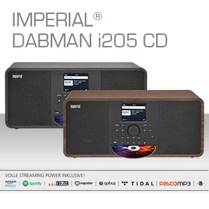 Imperial Dabman I205 Cd Internet Radio Dab Stereo Sound Fm Cd Player Wlan Lan Bluetooth Streaming Services Spotify Napster And Much More Including Power Supply Black Home Cinema Tv Video