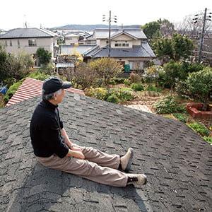 屋根の上のしゅういちさん