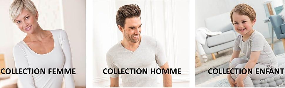 Colección, hombre, mujer, niño, Damart, Thermolactyl.