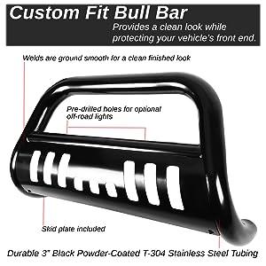 for 00-07 Tundra Sequoia DNA MOTORING BURB-028-BK Black BURB028BK 3 Front Bumper Push Bull Bar