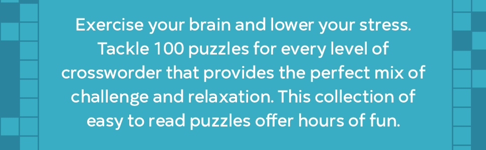 100 Large Print Crossword Puzzles Easy Puzzles To Entertain Your Brain King Chris 9781646116096 Amazon Com Books