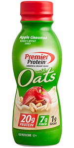 Premier Protein Shake with Whole Grain Oats, Apple Cinnamon, 20g Protein