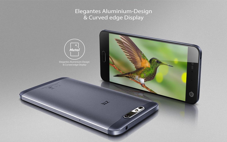 Zte blade v8 smartphone 5 2 zoll grau elektronik for Minimalistisches smartphone