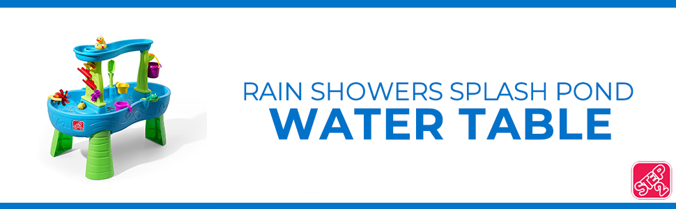 rain showers splash pond water table