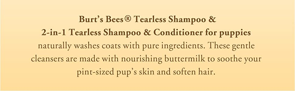 Burts bees for puppies