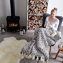 Amazoncom Bernat Blanket Yarn 105 Oz Terracotta Rose 1 Ball