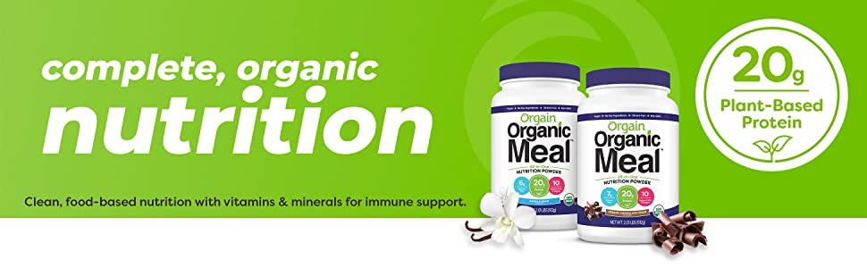 Orgain organic meal replacement powder