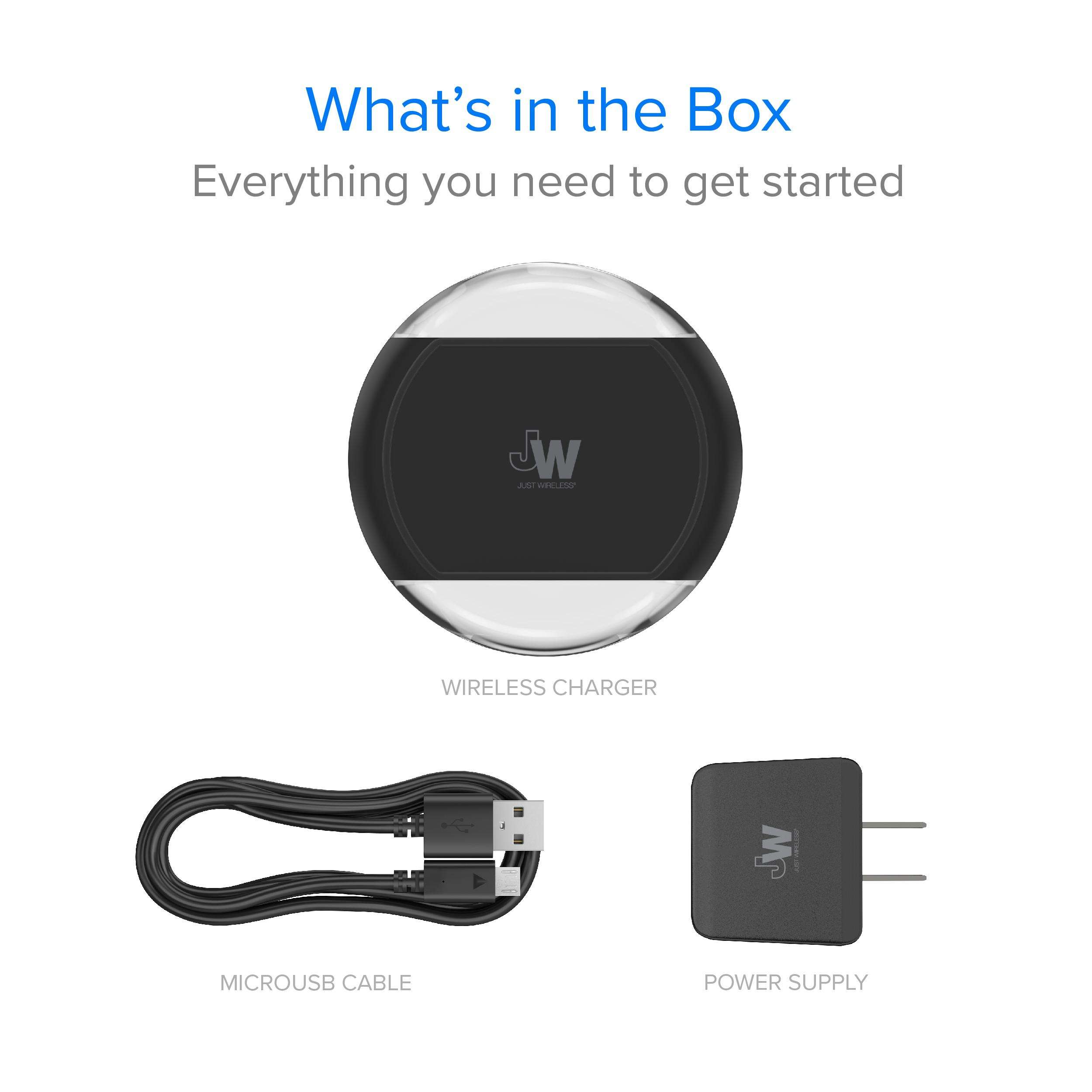 Just Wireless Qi Charger 5w 1a Certified Wiring Instructions Etrade Ultra Slim Flat Surface Design