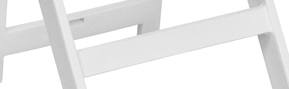 Flash Furniture 4 Pk. HERCULES Series 1000 lb. Capacity White Resin Folding Chair with White Vinyl Padded Seat