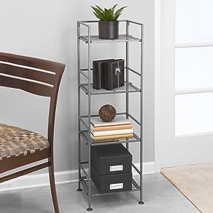 sevilleclassics iron metal steel slat clip on expandable customizable storage shoe rack shelf