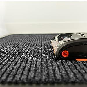 easy to clean rug, vacuum rug, non slid rug, grey rug, entryway mat