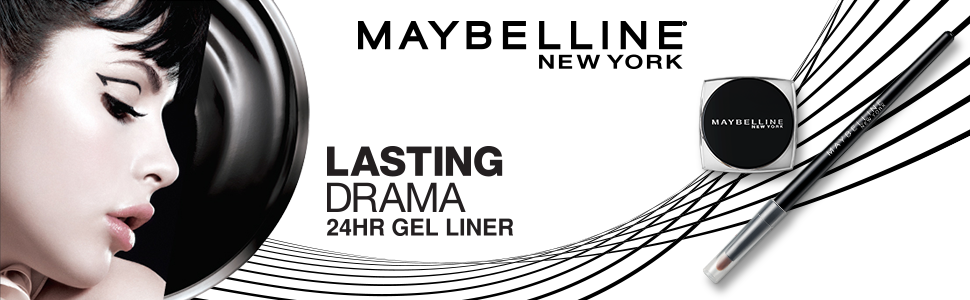 Maybelline New York Lasting Drama Gel Eyeliner, Blackest Black