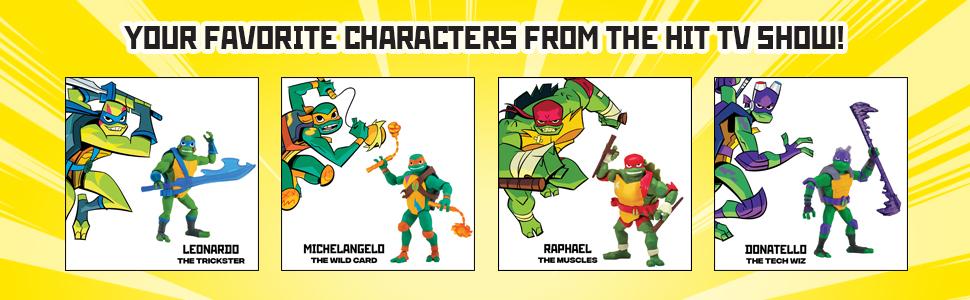 Amazon.com: Rise of the Teenage Mutant Ninja Turtles Figura ...