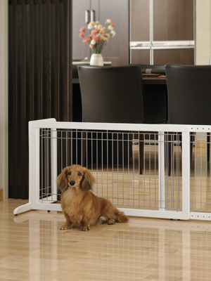 dog gate, pet gate, freestanding gate, wood gate, safety gate, pet gate for small dog