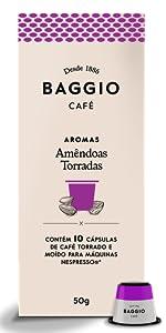 Amêndoas Torradas Cápsulas Baggio Café Nespresso