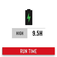 run time rechargeable