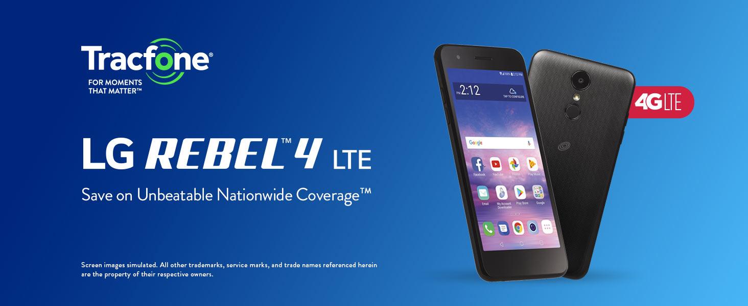 TracFone LG Rebel 4 4G LTE Prepaid Smartphone