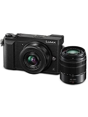 Panasonic LUMIX 4K Digital Camera DMC-GX85WK with 12-32mm and 45-150mm Lenses