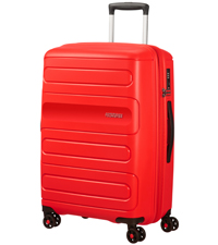 sunside; american tourister; spinner m; suitcase; medium; red; check-in