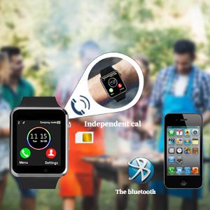 Bluetooth smart watch, SIM card, SD/TF SIM card slot, SD/TF slot, call, SMS, phone book, call record