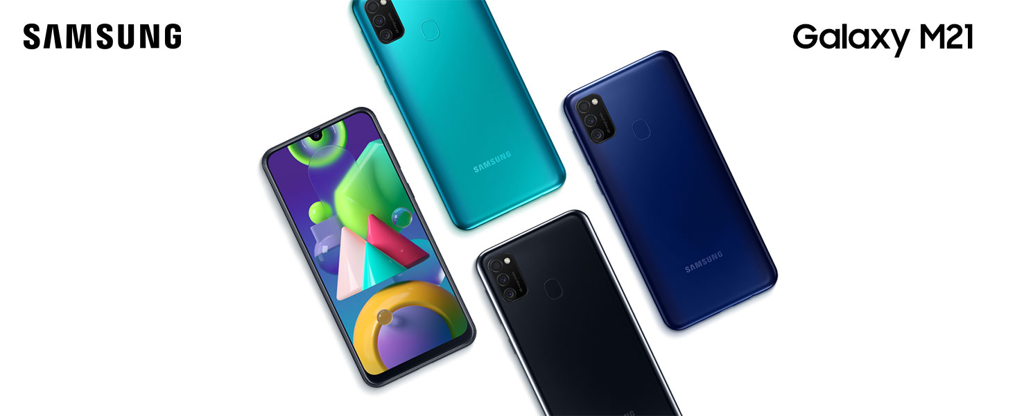 Samsung Galaxy M21 Android Smartphone ohne Vertrag, 3