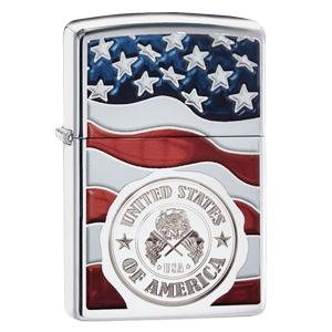 zippo case, case, zippo lighter case, lighter case, american flag lighter case