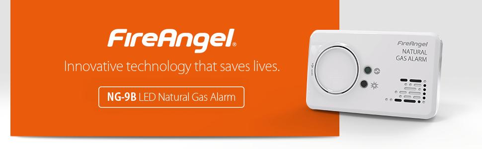 LED Natural Gas Alarm FireAngel NG 9B