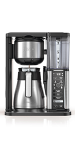 ninja specialty coffee maker, thermal carafe, single serve coffee maker, coffee brewer, drip coffee
