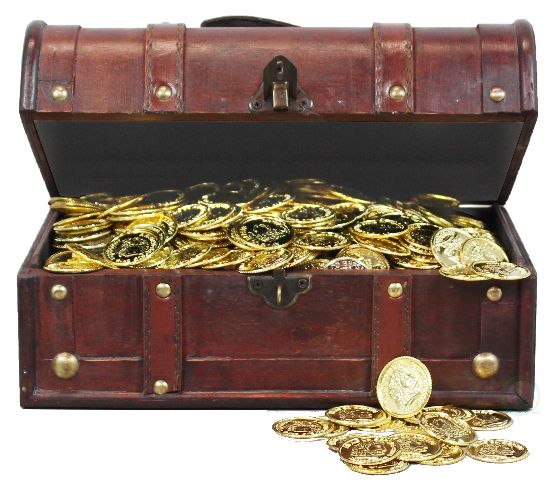 decorative wood treasure box wooden trunk chest - Decorative Wooden Boxes