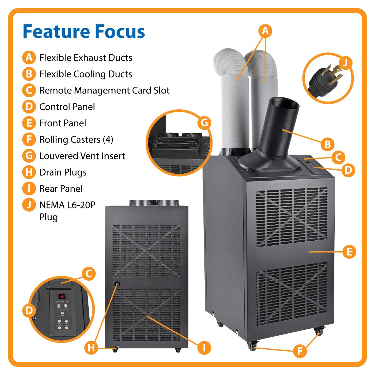 Amazon Com Tripp Lite Portable Cooling Unit Air
