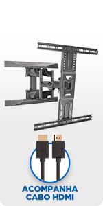 suporte tv, parede, elg, multiarticulado, articulado, tv suporte, A02V6N