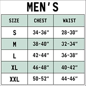 blizzard bay men's size chart