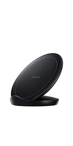 Samsung Qi Certified Fast Charge Wireless Charger Stand Cooling Fan Select Galaxy Apple iPhone