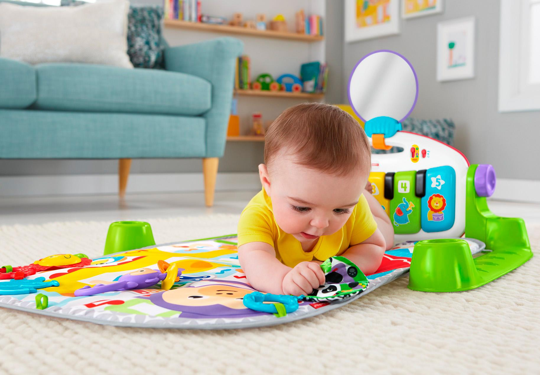 Amazon Com Fisher Price Deluxe Kick N Play Piano Gym Baby