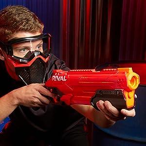 nerf rival takedown xx-800; nerf rival takedown gun; pump action rival takedown gun; rival bullets