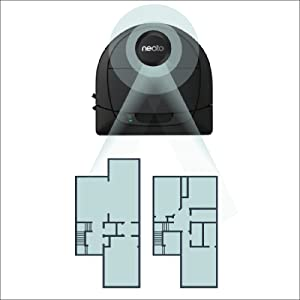 neato d6, neato floorplans, robotic vacuum floorplans, neato best robot vac, multi-story floorplans